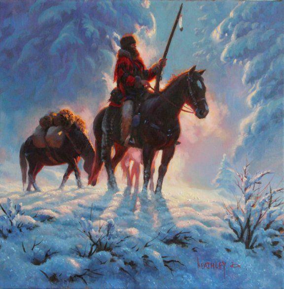 Snowy Peaks Christmas Tree Farm: 142 Best Images About Art Of Mark Keathley On Pinterest