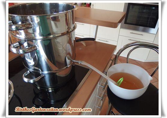 Apfelsaft aus dem Dampfentsafter, selbst herstellen,