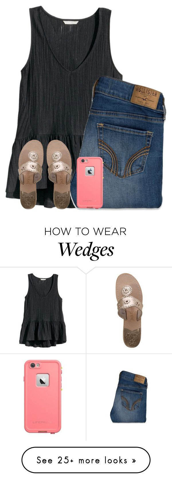 """""""{God made girls}"""" by kaitlynbug1226 on Polyvore featuring H&M, Hollister Co. and Jack Rogers"""