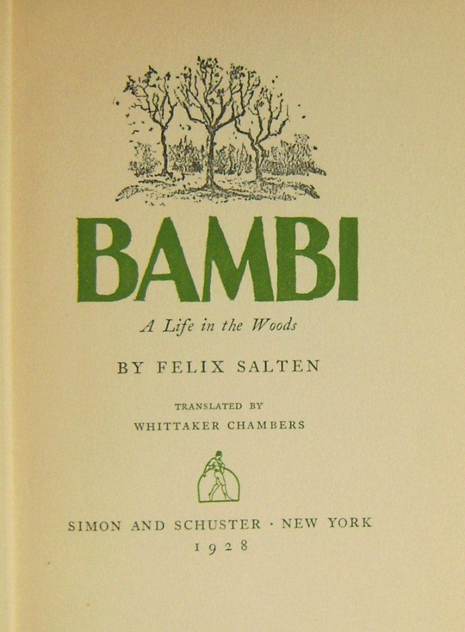 Bambi by Felix Salten First American Edition 1928 Antique Book Limited Edition Pre-publication Translated by Whittaker Chambers Illustrated by CrookedHouseBooks on Etsy