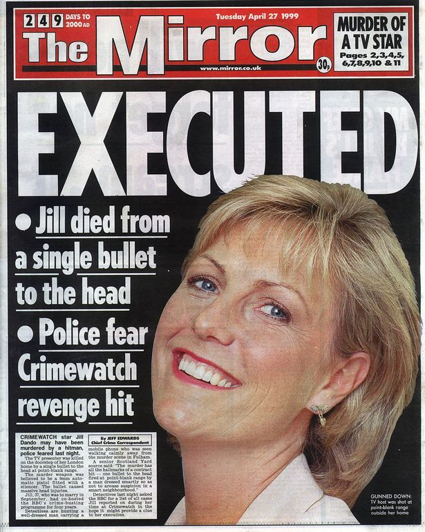 """2001: After an eight week trial Barry George has been sentenced to life imprisonment for the murder of television presenter Jill Dando. George, 41, was found guilty of shooting Miss Dando through the head with a single bullet on the doorstep of her home in Fulham, west London, on 26 April 1999. Summing up, Mr Justice Gage said: """"You are unpredictable and dangerous. There can be no doubt that it was premeditated. Why you did it will never be known."""""""