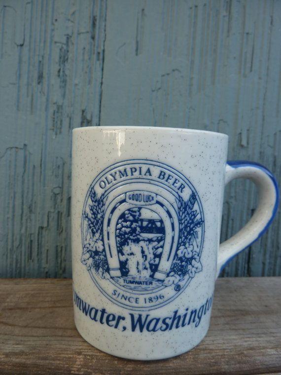 Olympia Beer Tumwater Washington coffee mug gray by OatesGeneral