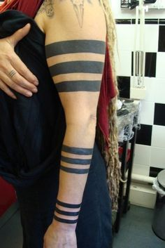 solid forearm band tattoo | Pin Black Arm Band Tattoos That S What My First Were