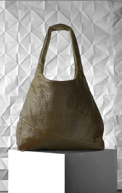 Animee Shopper (olive) by Kohl & Cochineal, in KURA New Zealand Alpine Leather