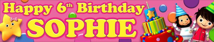 2 x LITTLE BABY BUM PERSONALISED BIRTHDAY BANNERS  #KOPEK #BirthdayChild