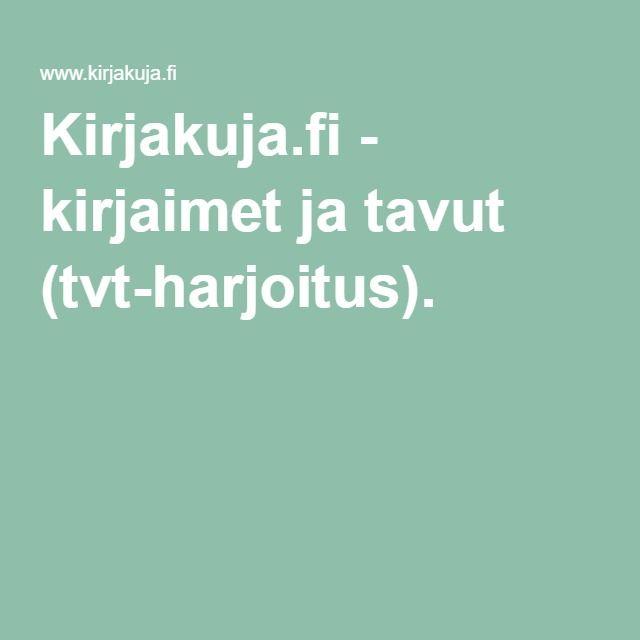 Kirjakuja.fi - kirjaimet ja tavut (tvt-harjoitus).