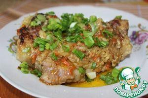 Рецепт: Свинина, тушенная в горчице с хреном