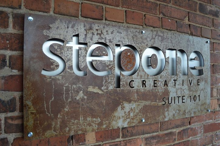 metal cut out exterior signage