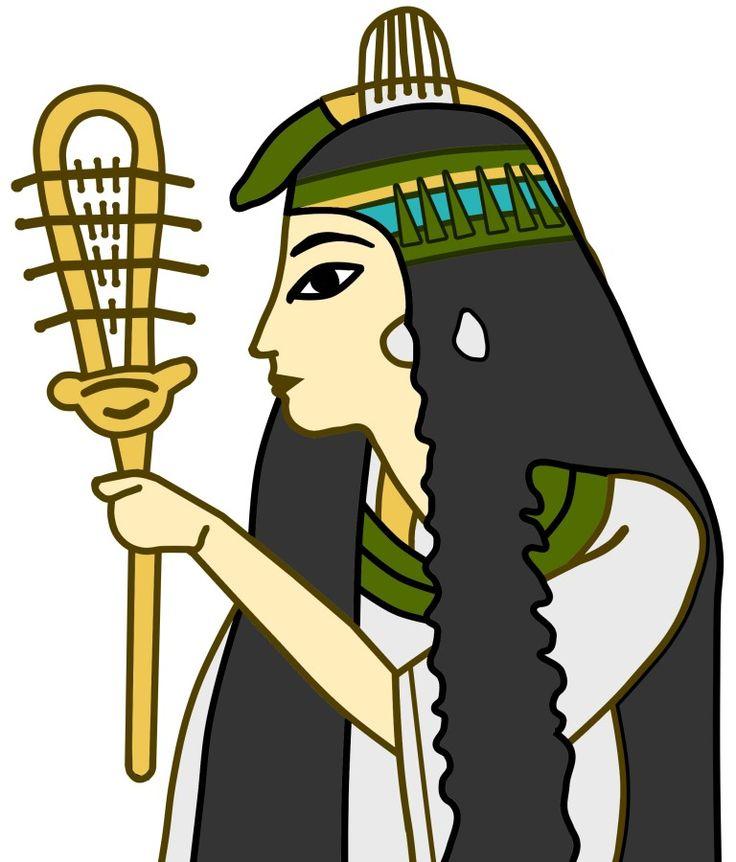 シストルム (sistrum)古代エジプトで使われていたガラガラ(壁画の像からイラストに転写)。  神話に登場する猫の顔を持つ女神・バステト(Bastet)もシストルムを持ってる。