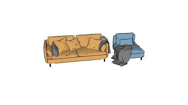 Large preview of 3D Model of Beautiful Sofa