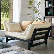 デンマークの家具ブランド「カーラップ」。北欧デザインでソファーベッド・片肘カウチ(左・右)と、スタイルに合わせて変えられます。ふかふかのクッションマットは綿100%でフトンの快適さを存分に楽しめます。