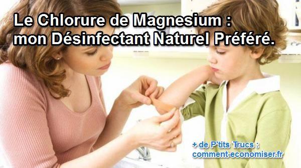 Le chlorure de magnésium, j'en ai toujours sous la main. Il me sert à renforcer mon système immunitaire, ou encore à soigner mes maux de tête. Mais ce que j'ai découvert récemment, c'est qu'il était également utilisé comme désinfectant principal par certains médecins.  Découvrez l'astuce ici : http://www.comment-economiser.fr/chlorure-magnesium-desinfectant-naturel.html?utm_content=buffer8d2c7&utm_medium=social&utm_source=pinterest.com&utm_campaign=buffer