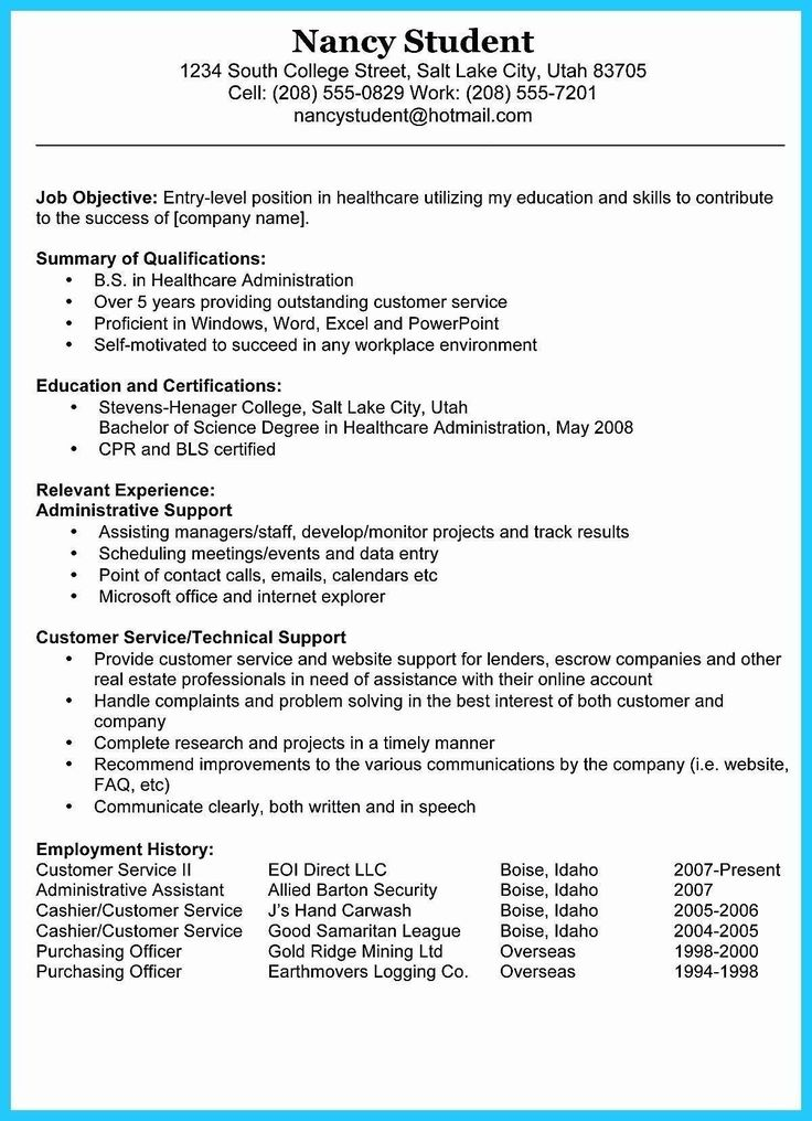 Career Objective for Resume for Fresher Awesome Resume