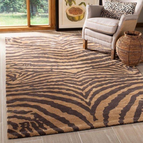 Shop Safavieh Handmade Soho Vicenta Tiger N Z Wool Rug On Sale Free Shipping On Orders Over 45 Overstock Cool Rugs Safari Home Decor Brown Area Rugs #safari #rugs #living #room