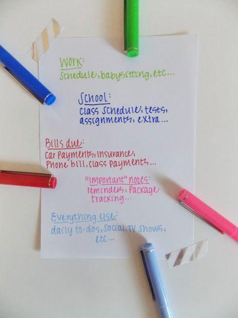 Agenda organization: tips & tricks to keep you organized all year | Sunshine & a Little Pink | Bloglovin'
