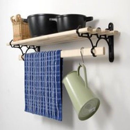 Wall Mounted Pot And Pans Rack Kitchen Shelf Storage Hanging