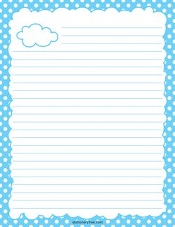 Cloud writing paper