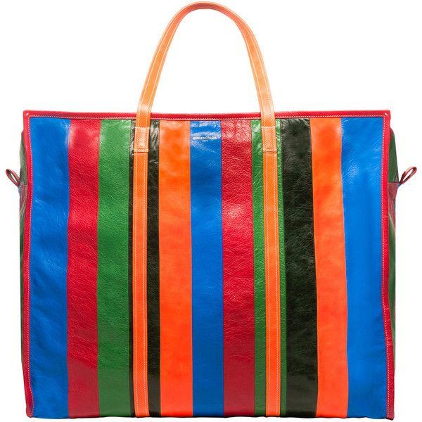 Balenciaga Bazar Shopper Xl Bazar Handbags (125,895 PHP) ❤ liked on Polyvore featuring bags, handbags, tote bags, multicolor, blue tote bag, shopping tote, leather tote, blue leather tote bag and zip tote bag
