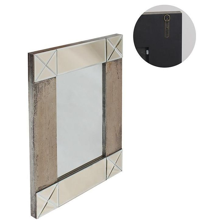 Wonderful #wooden #mirror in silver color! www.inart.com