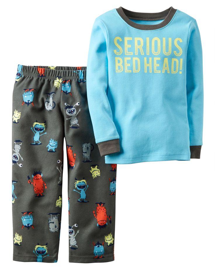 Toddler Boy 2-Piece Cotton & Fleece PJs   Carters.com