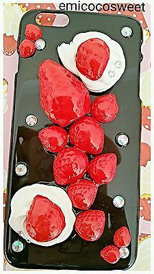 iPhone6 plus,Cute Fruit Phone Case,iPhone,Decoden Case,Strawberry Phone Case