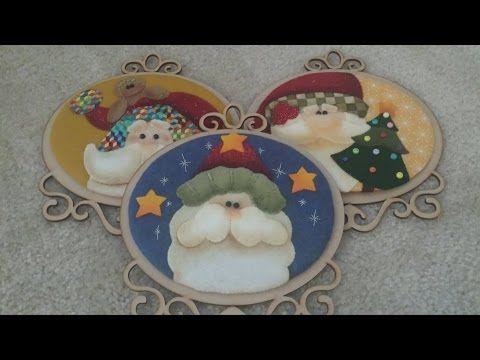 Como hacer un Cuadro de Navidad en Icopor y Paño Lenci- Hogar Tv  por Juan Gonzalo Angel - YouTube