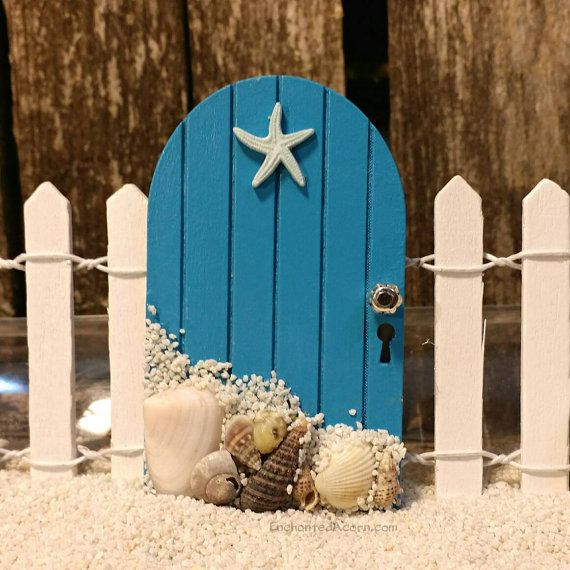 Beach Fairy Garden Door TINY Seashell by TheEnchantedAcorn