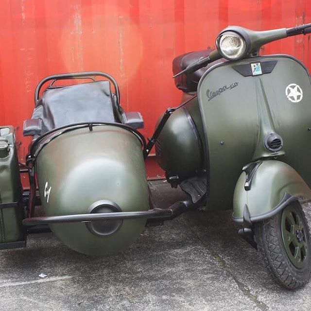 We are selling a Vespa! 2 infact!  Working ex-original 1960 models- one green with army paint job and one ivory with tan accents. A great fun ride and would be an awesome promotional vehicle with a bit of signage added! See more in our trademe store at the link in our bio
