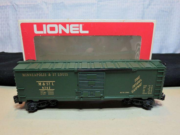 "LIONEL 6-9742 O27 Scale Standard Box Car ""Minneapolis & St. Louis"" #Lionel"