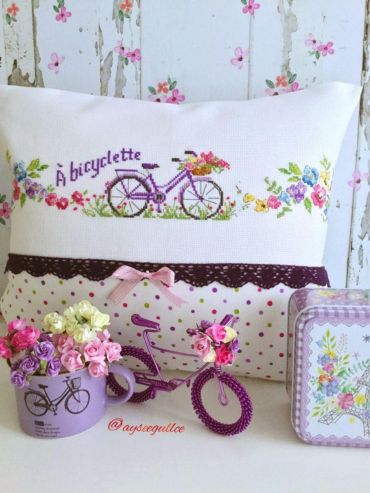 Cross stitch bike @ayseegullce