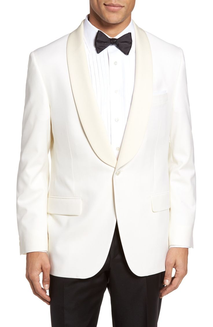 Beacon Classic Fit Wool Dinner Jacket - if you are gonna do white, do it right!!!