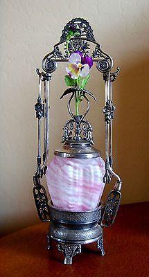 victorian castor pickle jars | Victorian Antique Pickle Castor Northwood Pillar Spatter Jar Pairpoint ...
