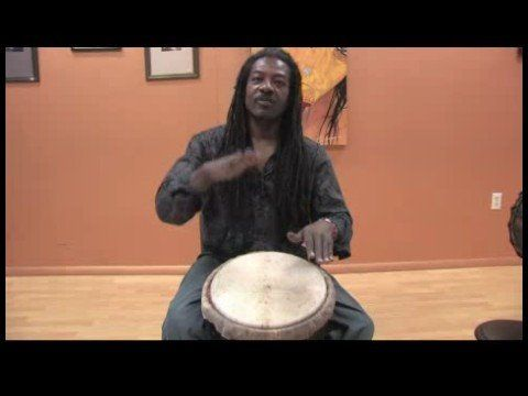 How to Play African Drums : Making Bass Sounds on a Djembe Drum