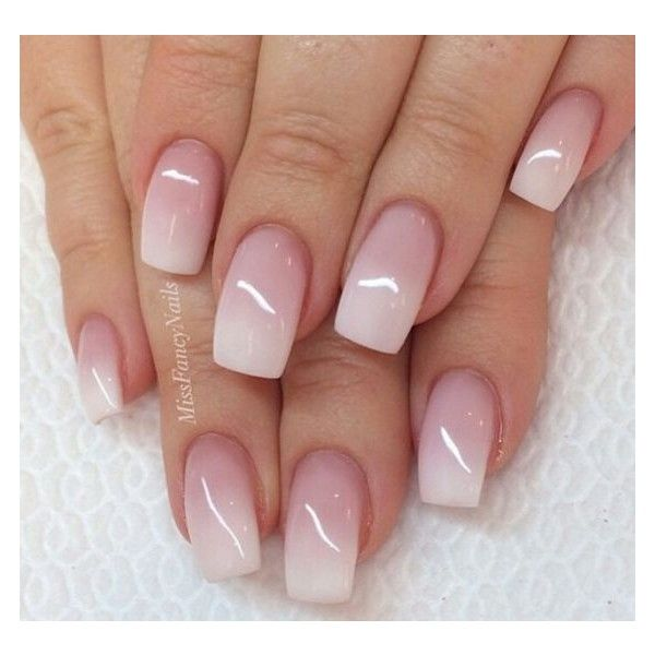 French Acrylic Nails ❤ liked on Polyvore featuring beauty products, nail care, nail treatments and nail