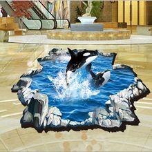 1db 3D Creative bálna Jump fali matrica Szalonbútorok dekoráció matricák nappali…