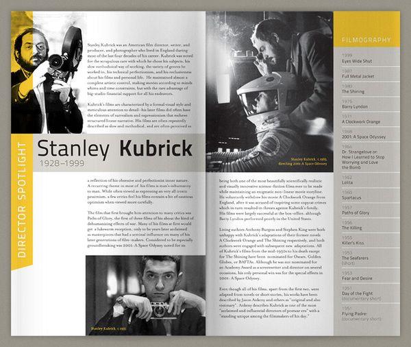 The Harvard Film Archive by Romain Tsiplakis, via Behance - inspiratie Kijk voor meer informatie over het drukken van brochures eens op www.drukzo.nl/content/brochures-drukken