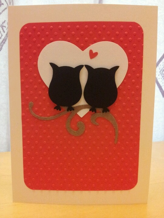 Anniversay card using stampin up owl punch