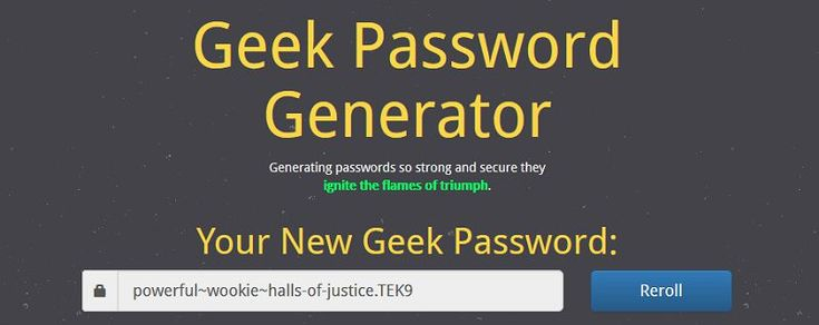 Geek Password Generator