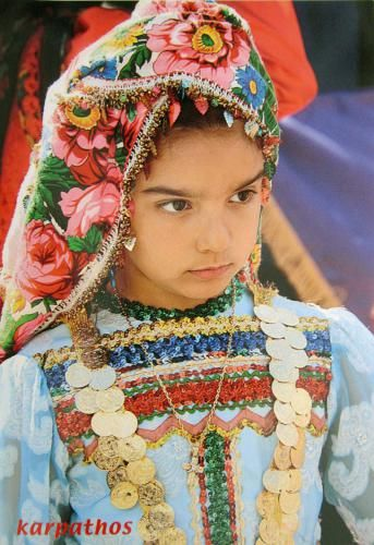 Traditional dress of the Greek island Karpathos.