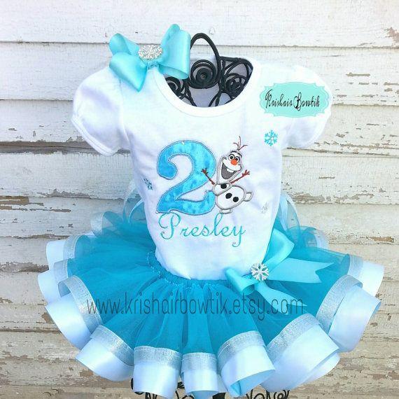 Olaf tutu olaf ribbon tutu-frozen satin tutu by KrishairBowtik