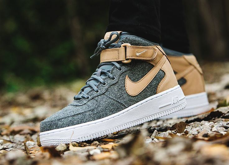b7e523fdd609 ... Nike wmns Air Force 1 07 Mid Leather Premium - OatmealWool - 2016 ...