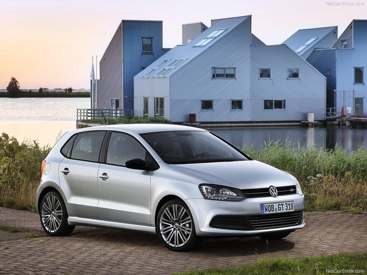 Volkswagen / VW Polo BlueGT - Front Angle, 2013  - I'd love a blue-motion polo, so economical and environmentally friendly