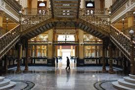 Part of the inside of the Palacio de las Bellas Artes , Palace of Fine Arts.