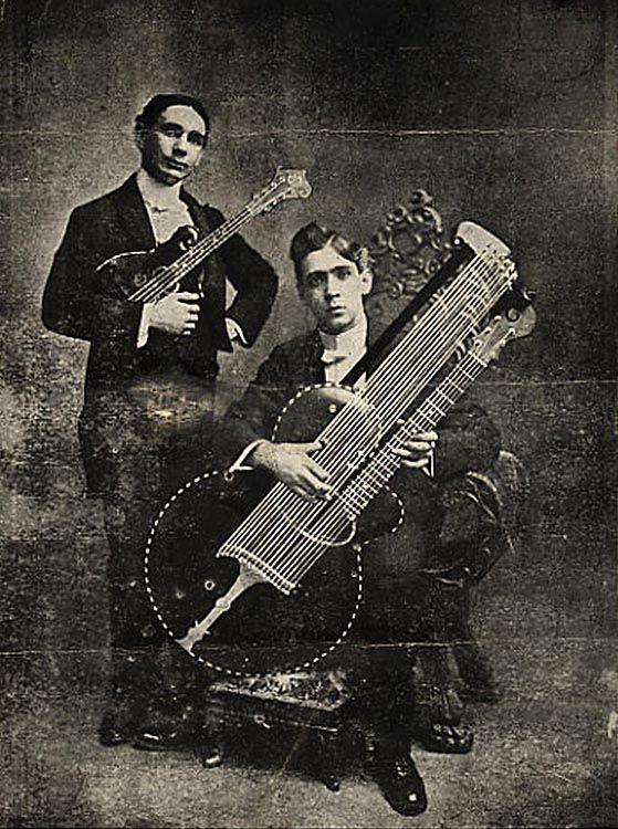 STRANGE GUITAR WEEK Bass harp guitar, nice specimen! #rareandstrangeinstruments