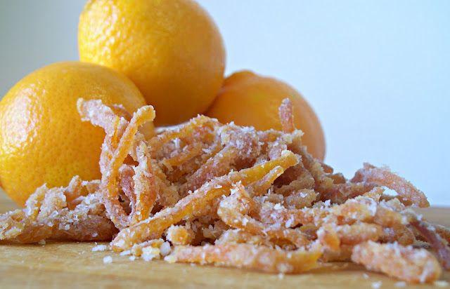 Honig kandierte Zitrusschalen (Lücken)