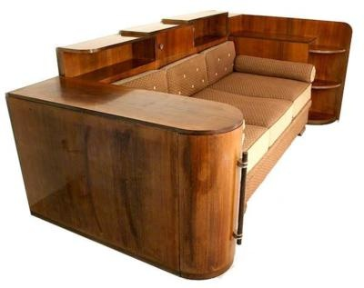 Amazing Art Deco Sofa, but it doesn't look that comfortable!