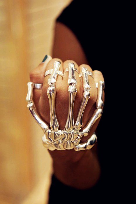 Silver Skeleton Ring  #Halloween #jewelry www.loveitsomuch.com