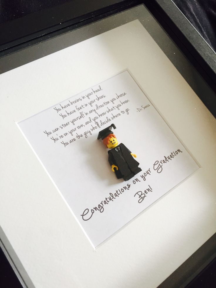Do you know someone who's graduating this summer? Why not buy them a gift that's a little different? Graduation Lego Minifigure Shadowbox Frames come in a choice of white or black frame, male or female graduate with cap and gown and a variety of hair options. £30 +P&P