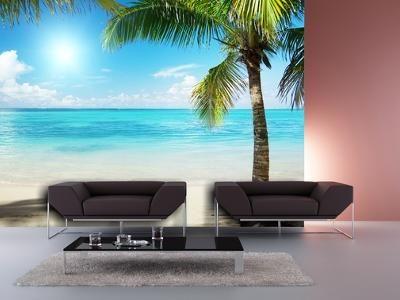 Xdecor Palmy na pláži (126 x 90 cm) -  Fototapeta na zeď