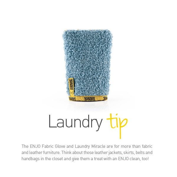 ENJO Fabric Glove - Laundry Tip. Find it at www.facebook.com/jenreathenjo